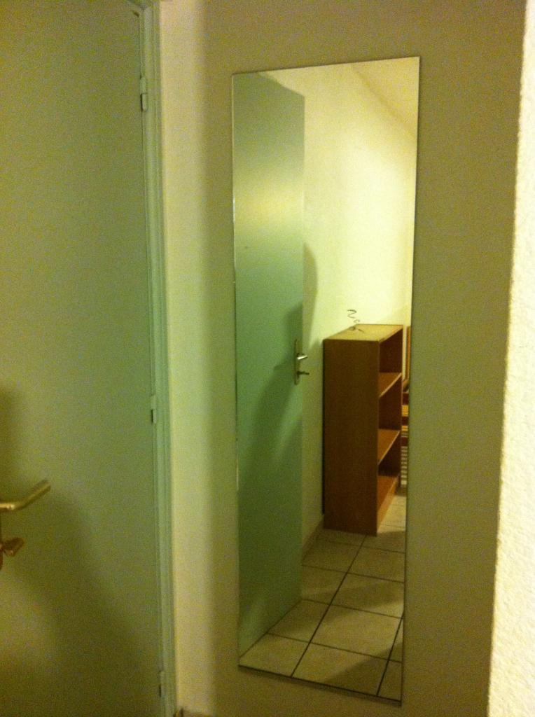 un grand miroir pour voir si tout va bien avant de sortir ;p
